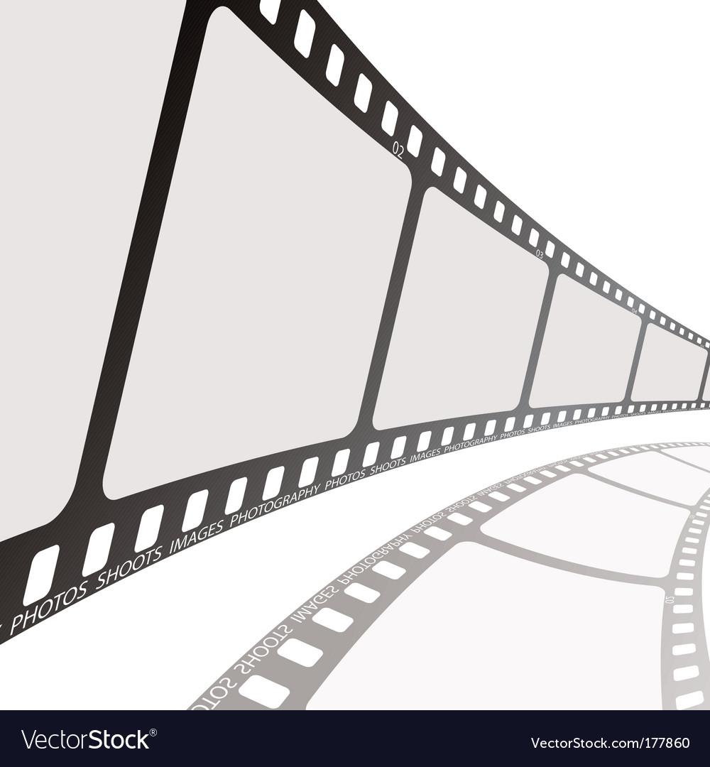 Film reel angle vector image