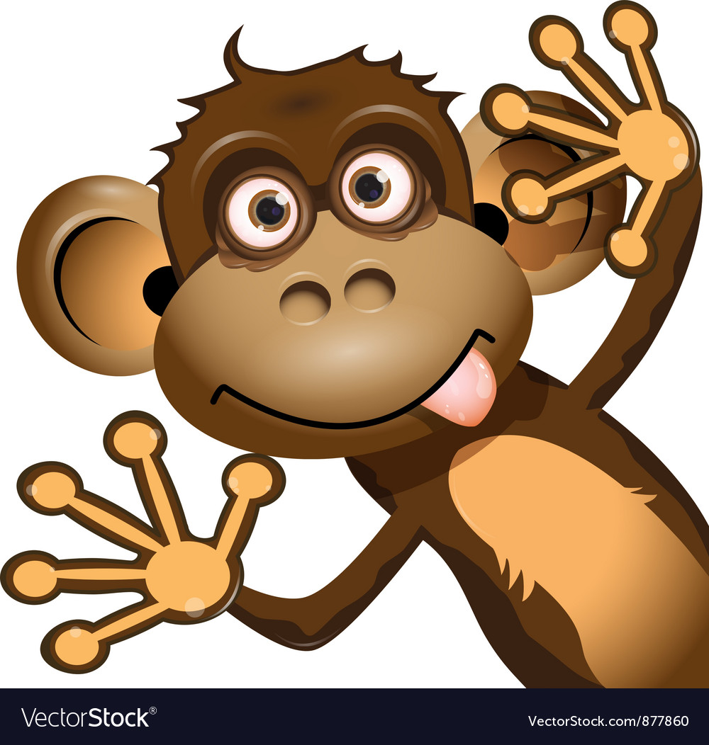 Funny Monkey Royalty Free Vector Image Vectorstock