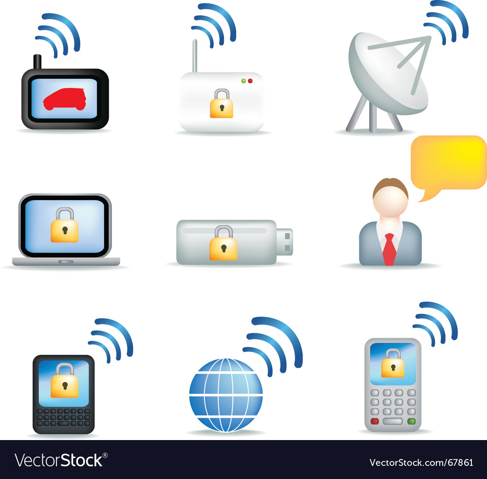 Communicate icons vector image