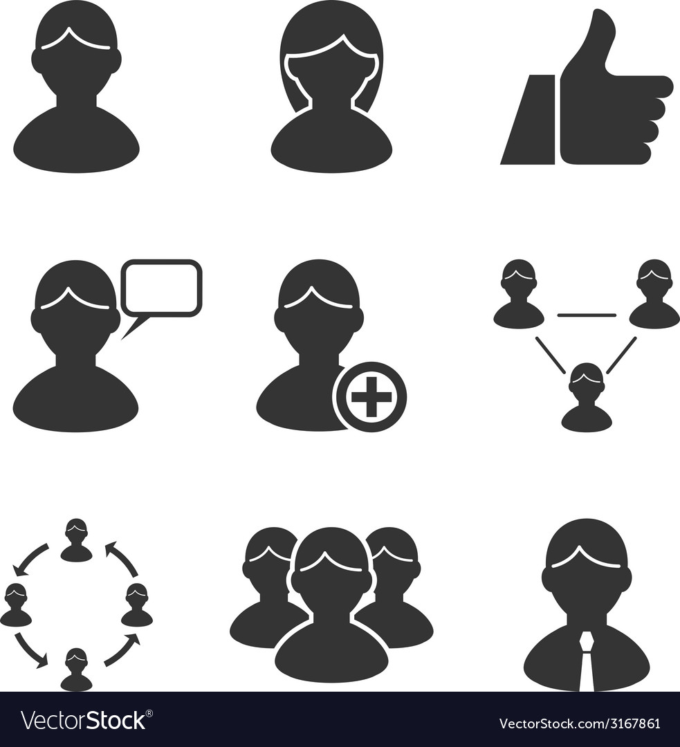 Users people human resources management business vector image