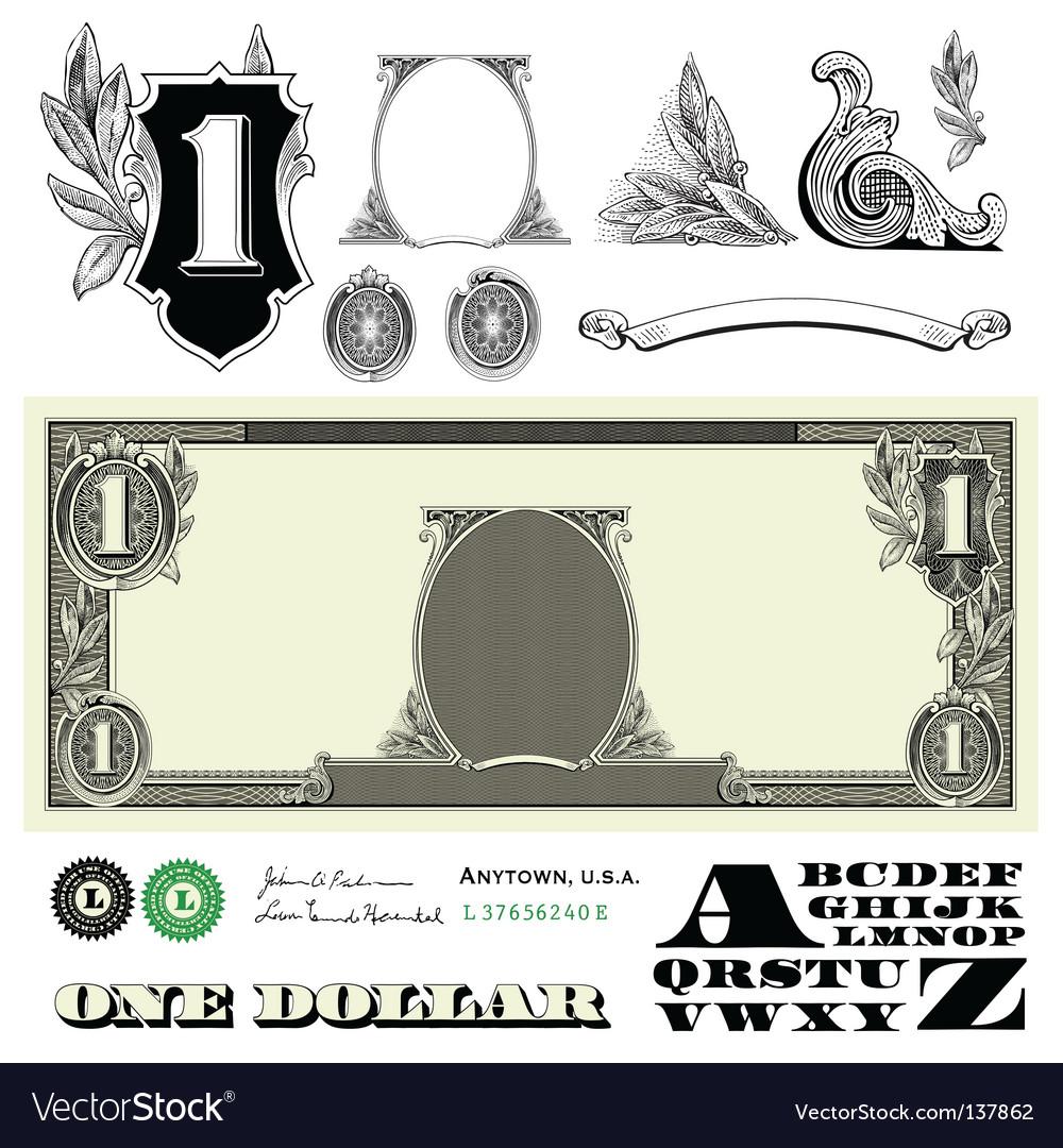 Money elements vector image
