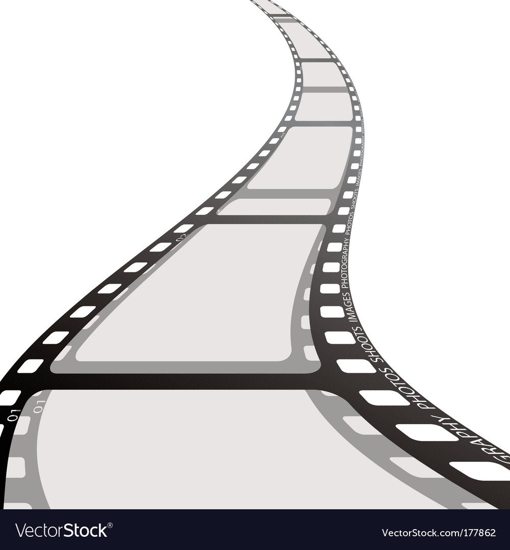 Film strip reel wave vector image