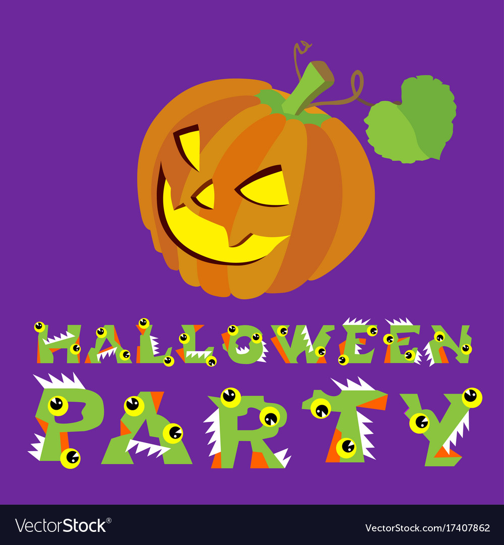 Halloween creepy pumpkin and vector image