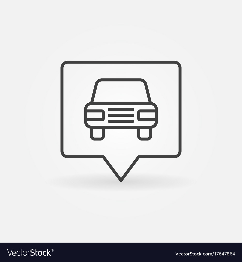 Car in square pointer vector image