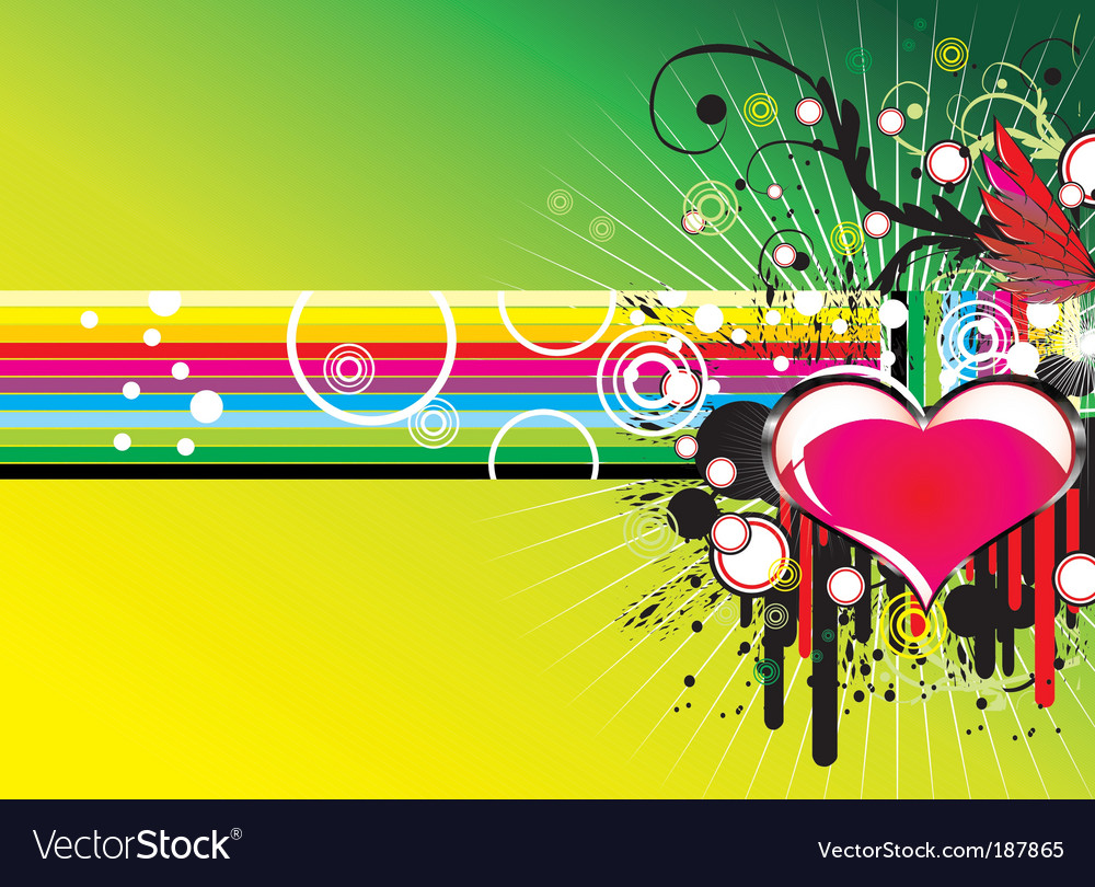 Music love background vector image