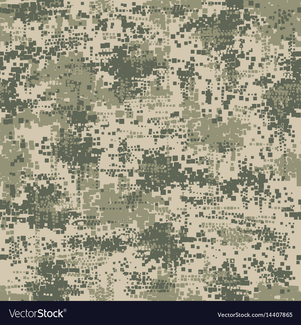 Military army uniform pixel seamless pattern vector image