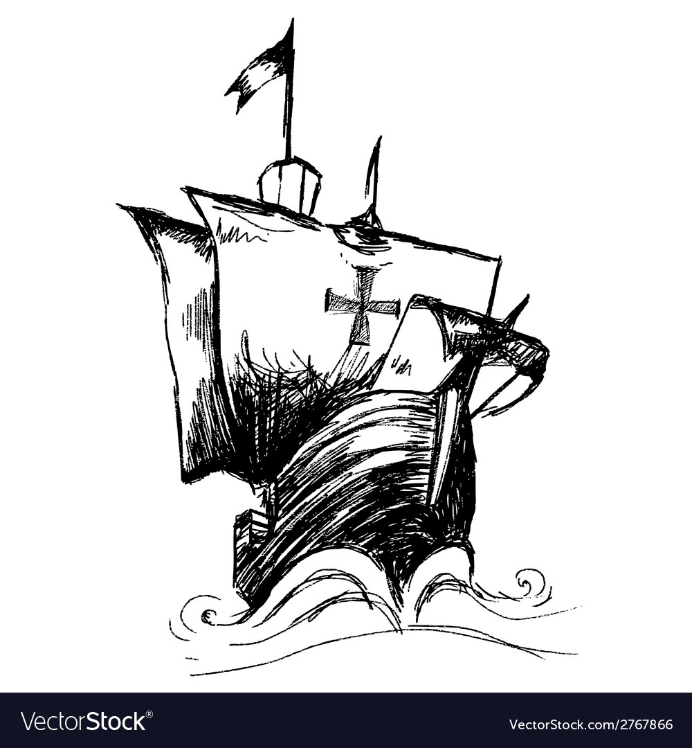 columbus ship royalty free vector image vectorstock