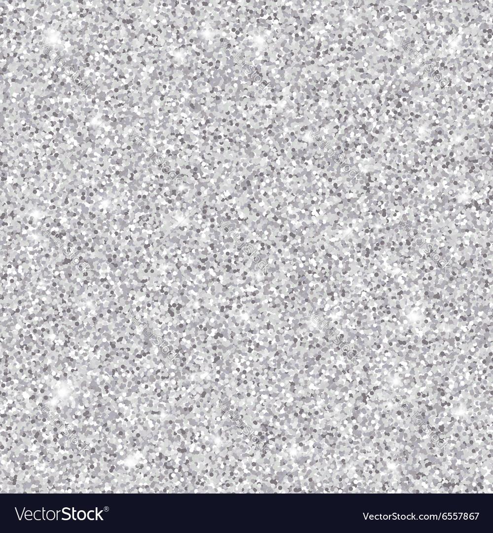 Silver glitter seamless pattern texture vector image