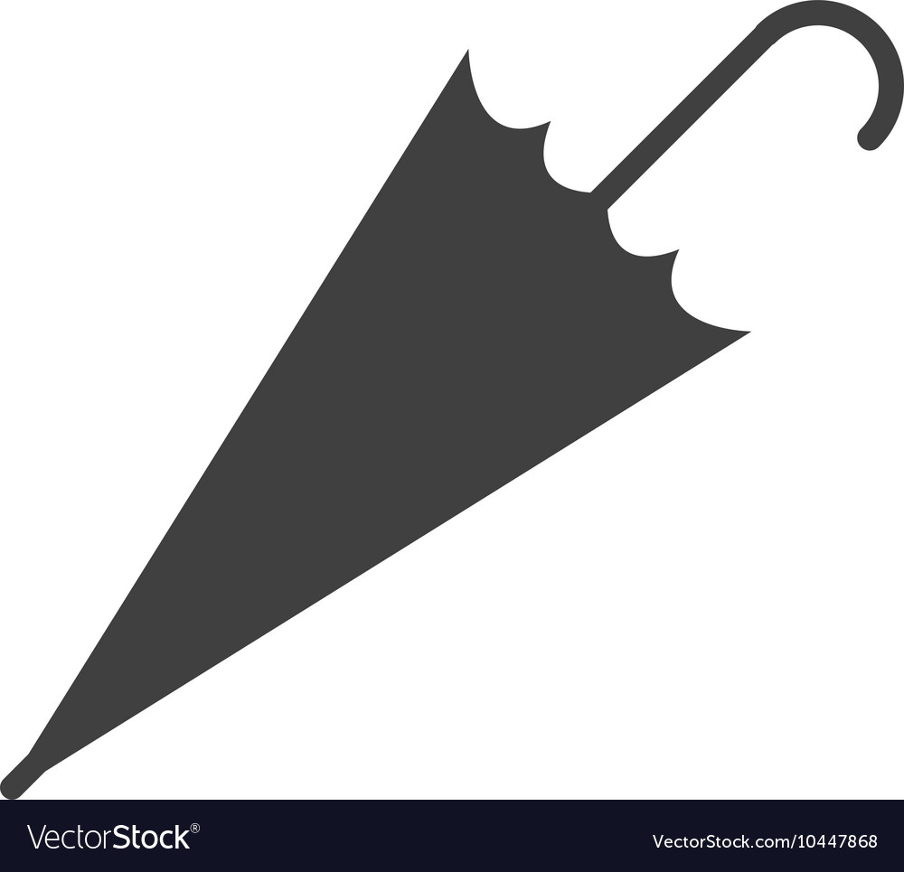 Closed umbrella icon vector image