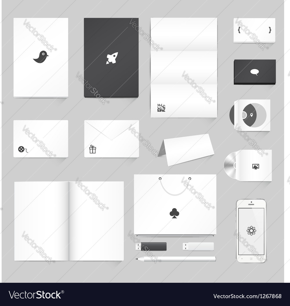 corporate identity mockup royalty free vector image, Powerpoint templates