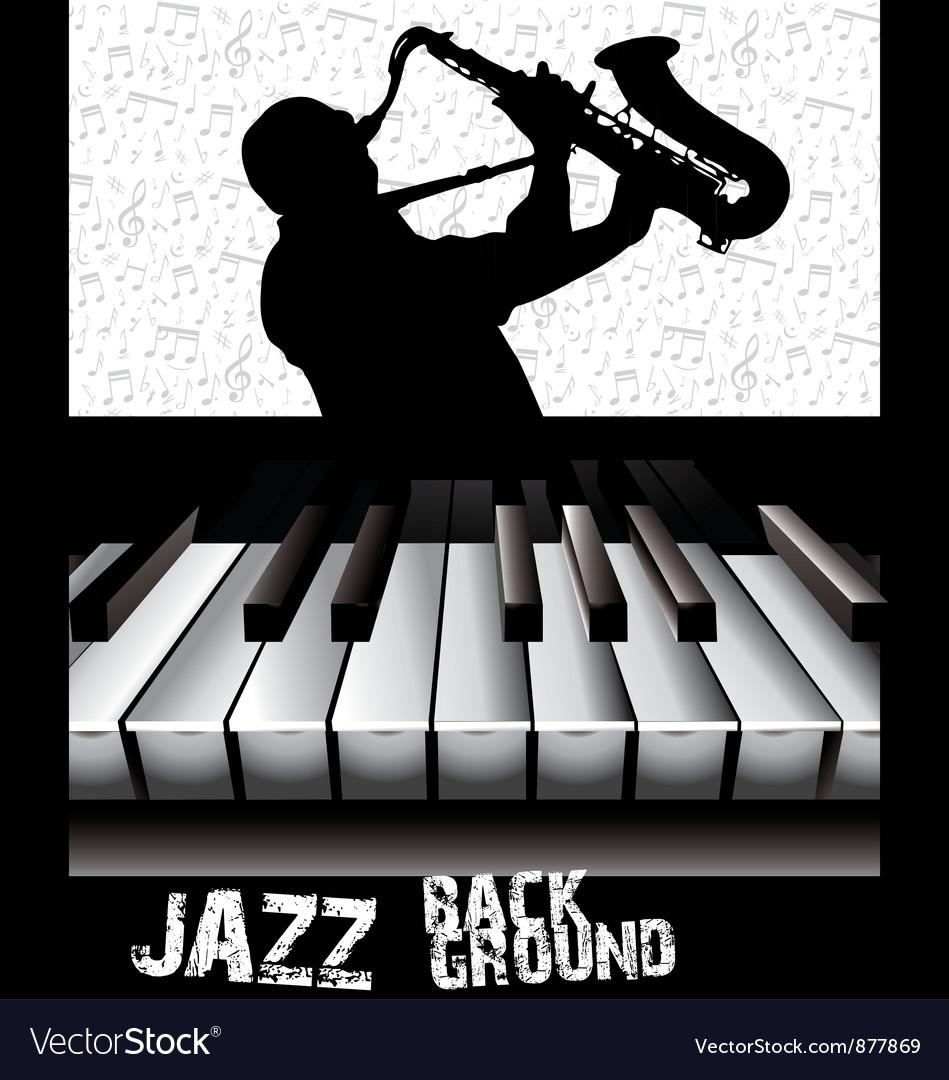 Jazz background vector image