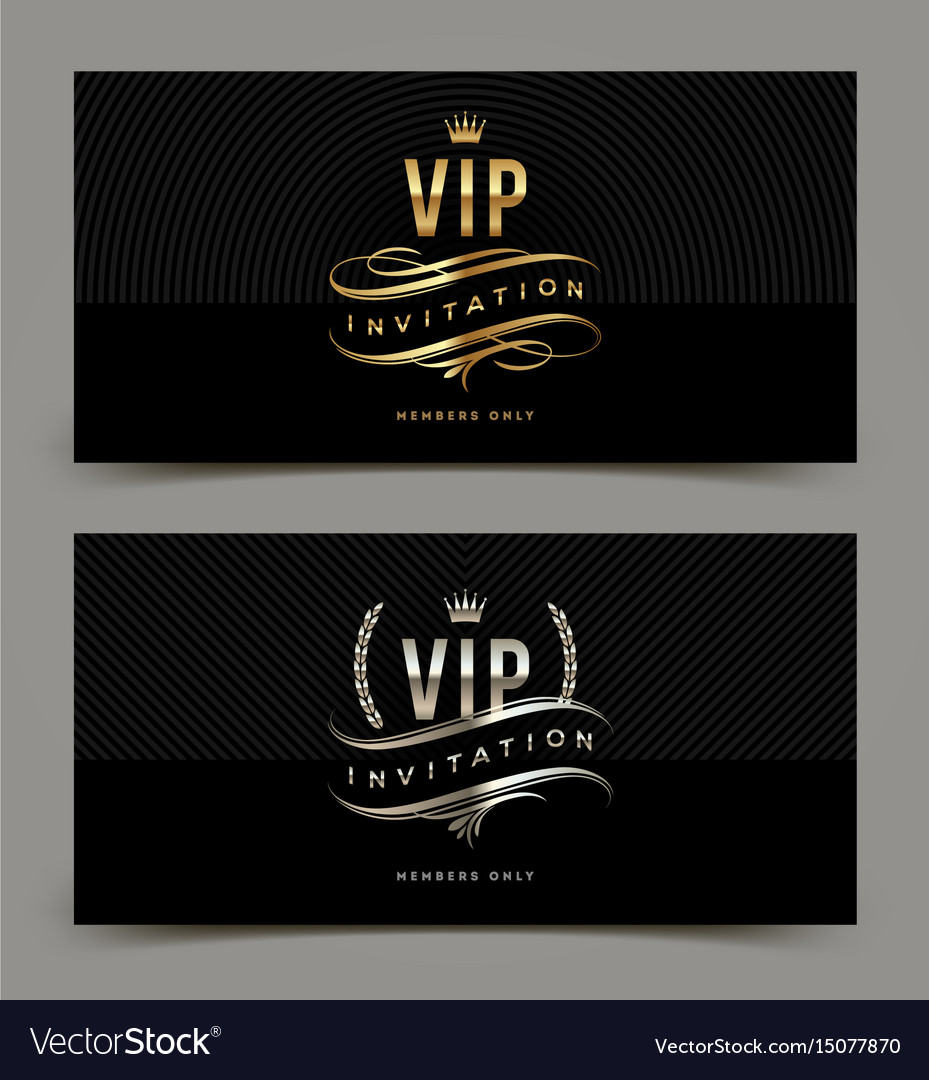 Golden and platinum vip invitation template vector image golden and platinum vip invitation template vector image stopboris Image collections