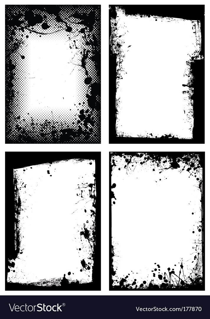 Grunge border collection vector image