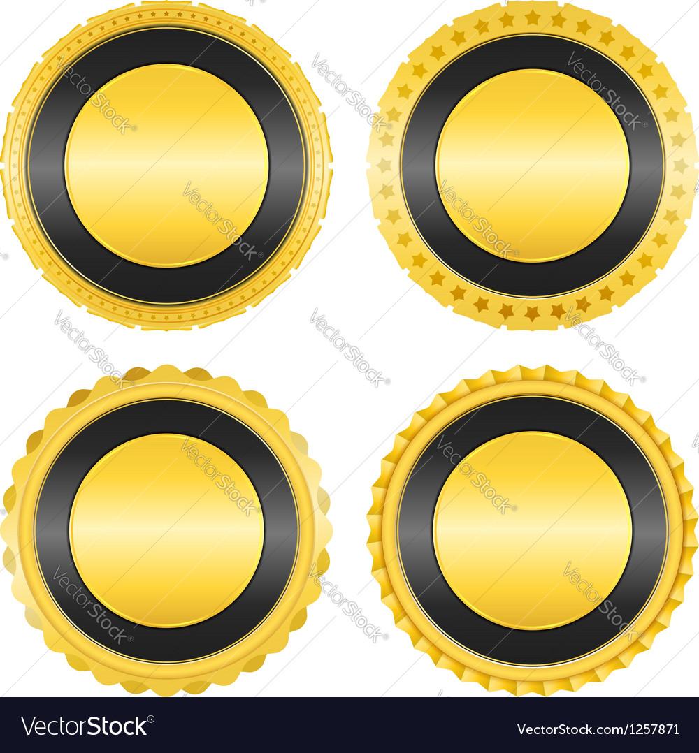 Blank Golden Badges vector image