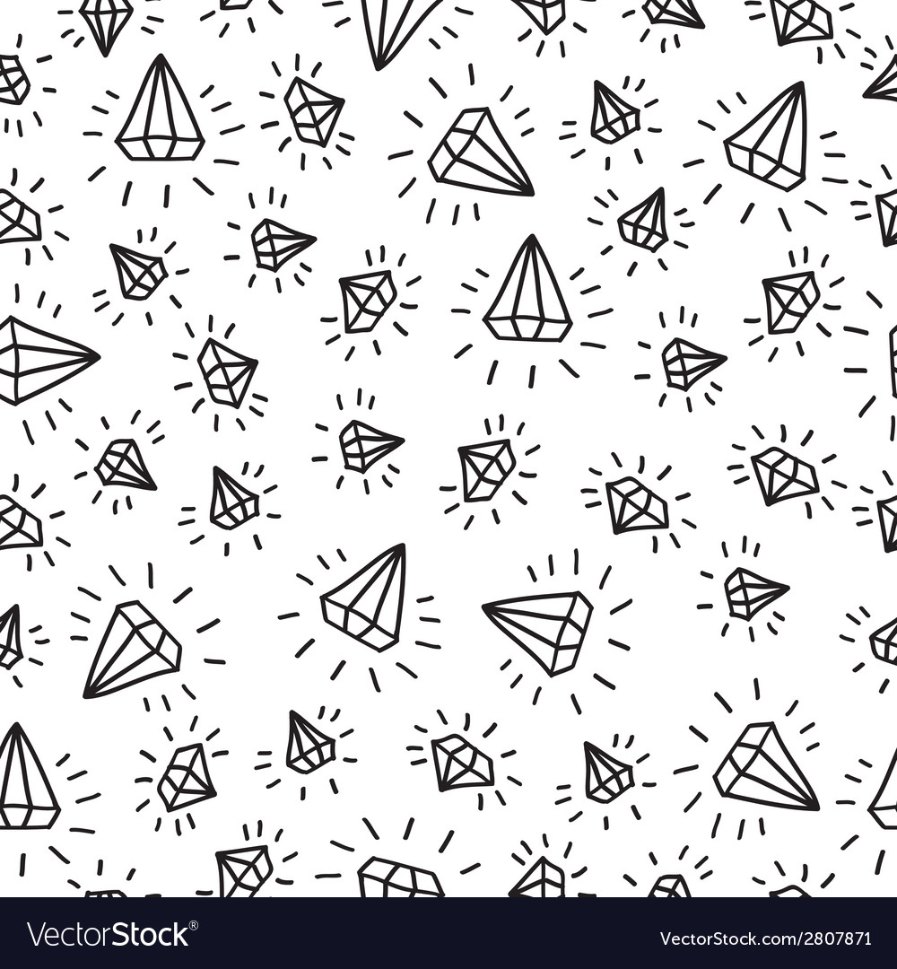 Cartoon diamond seamless background Template for vector image