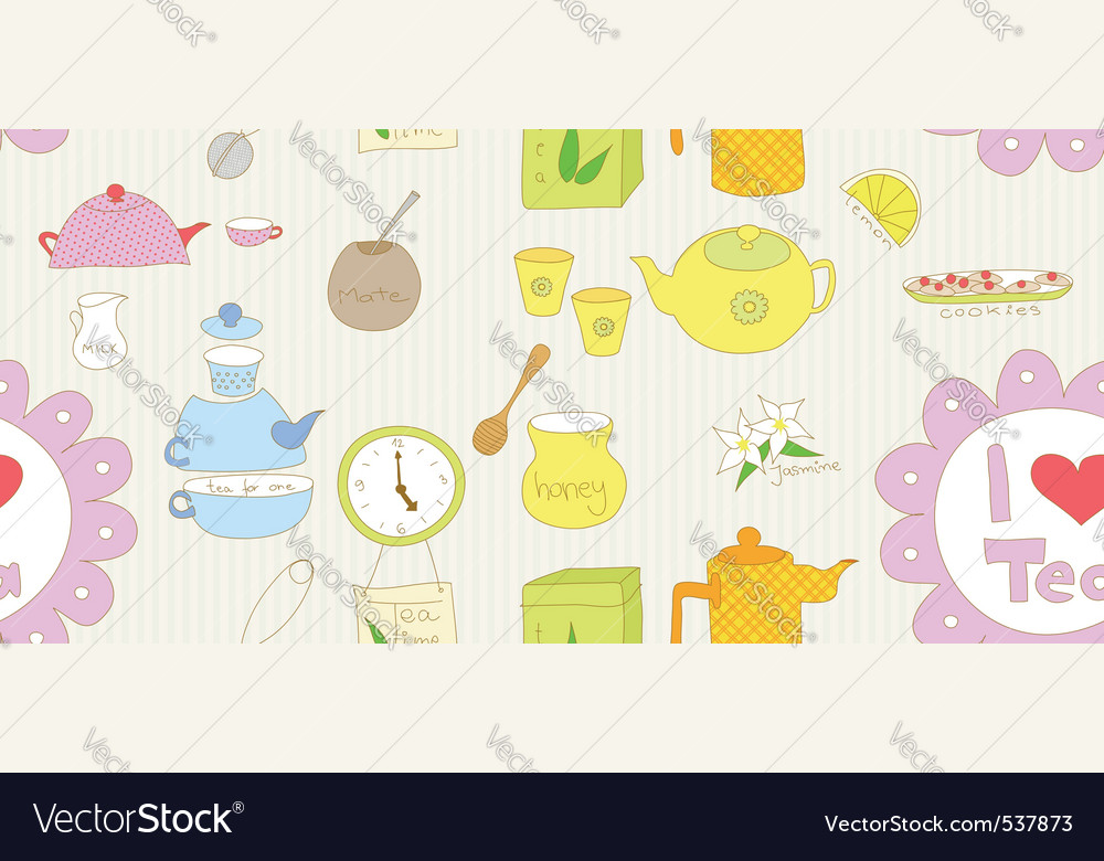 Food doodle vector image