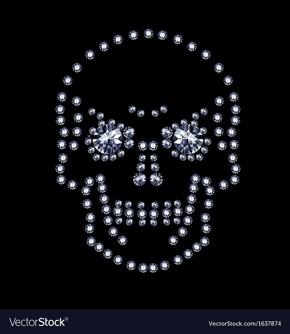 Diamond Skull vector image