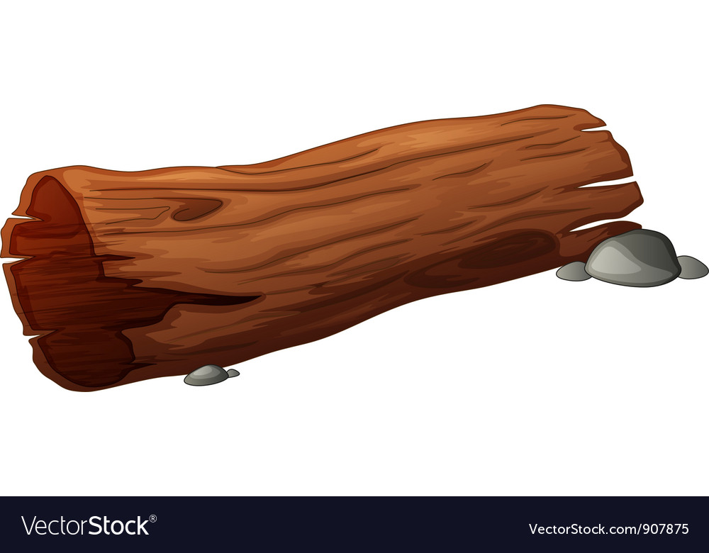 Log design element vector image