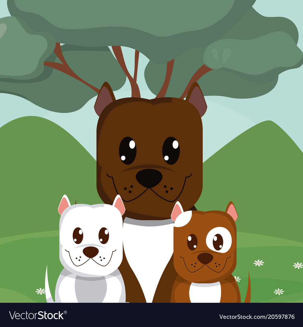 dogs cute animals cartoons royalty free vector image