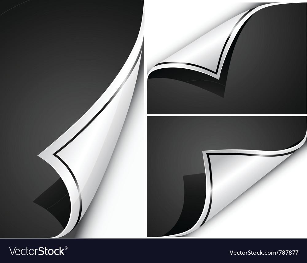 Page flip s Vector Image