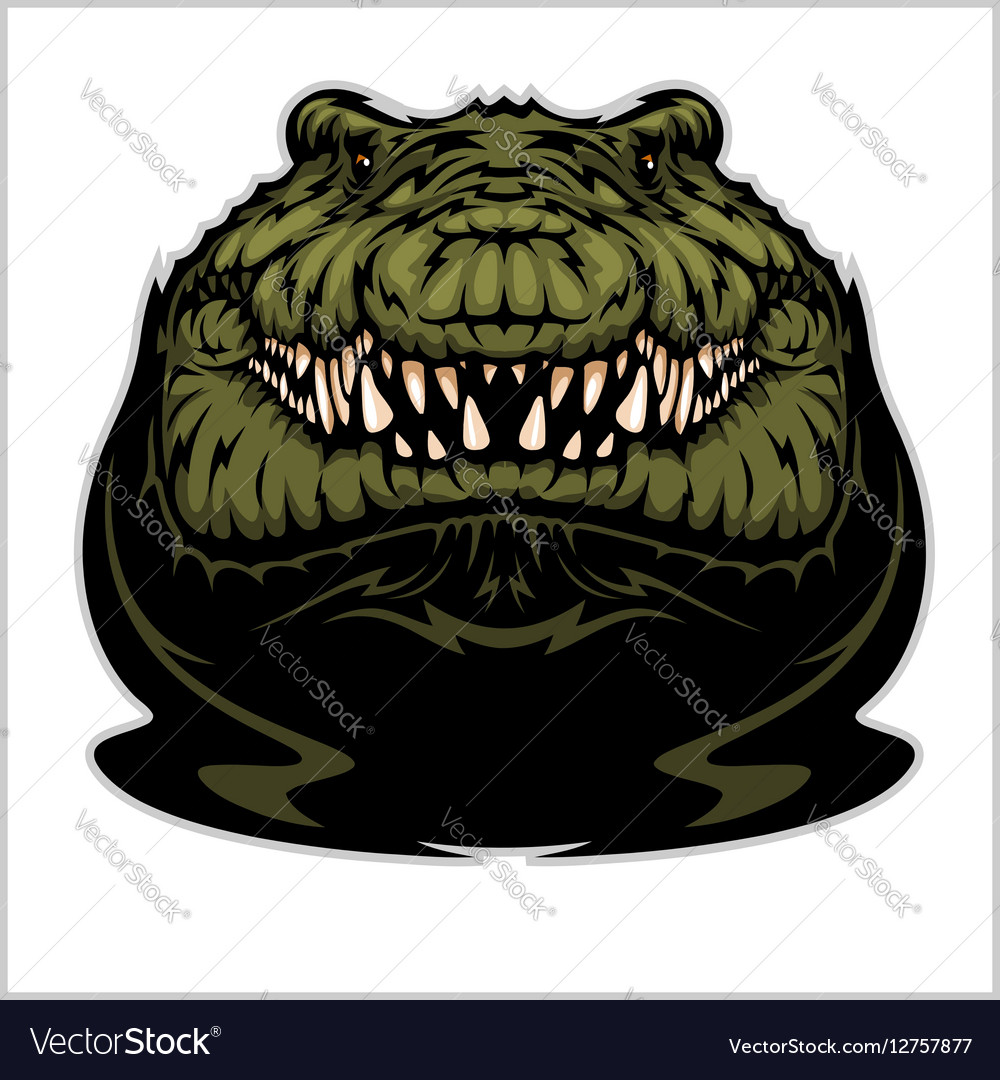 Angry Alligator Mascot vector image