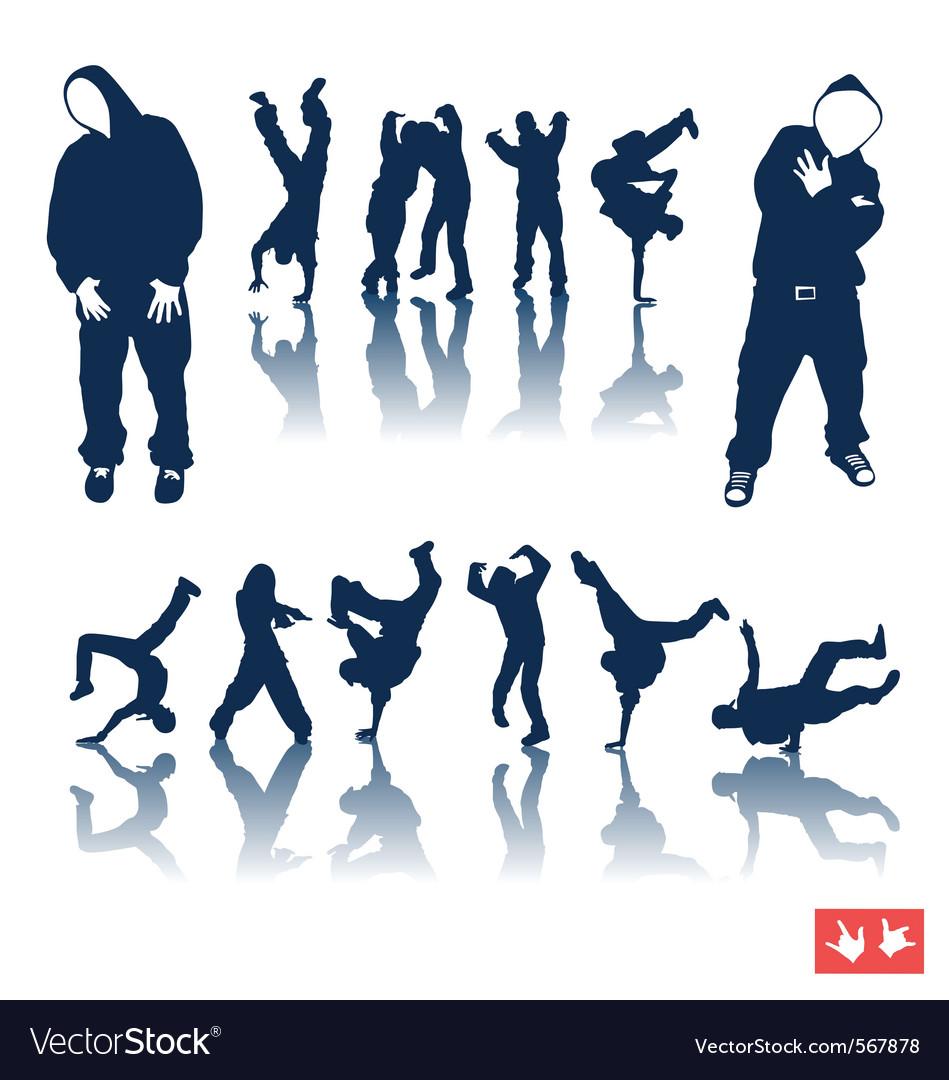 Hiphop dancing vector image