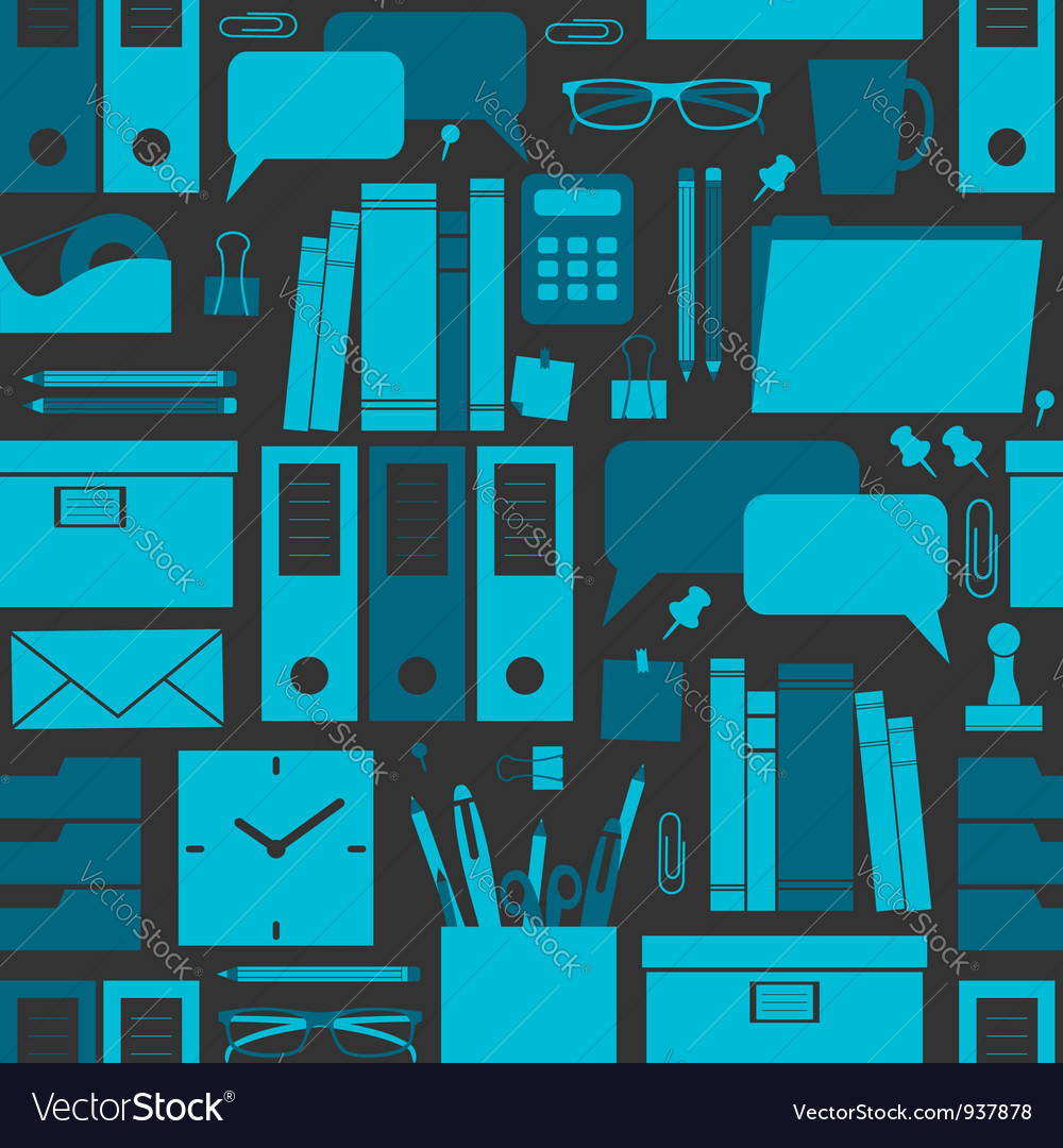 Office pattern vector image