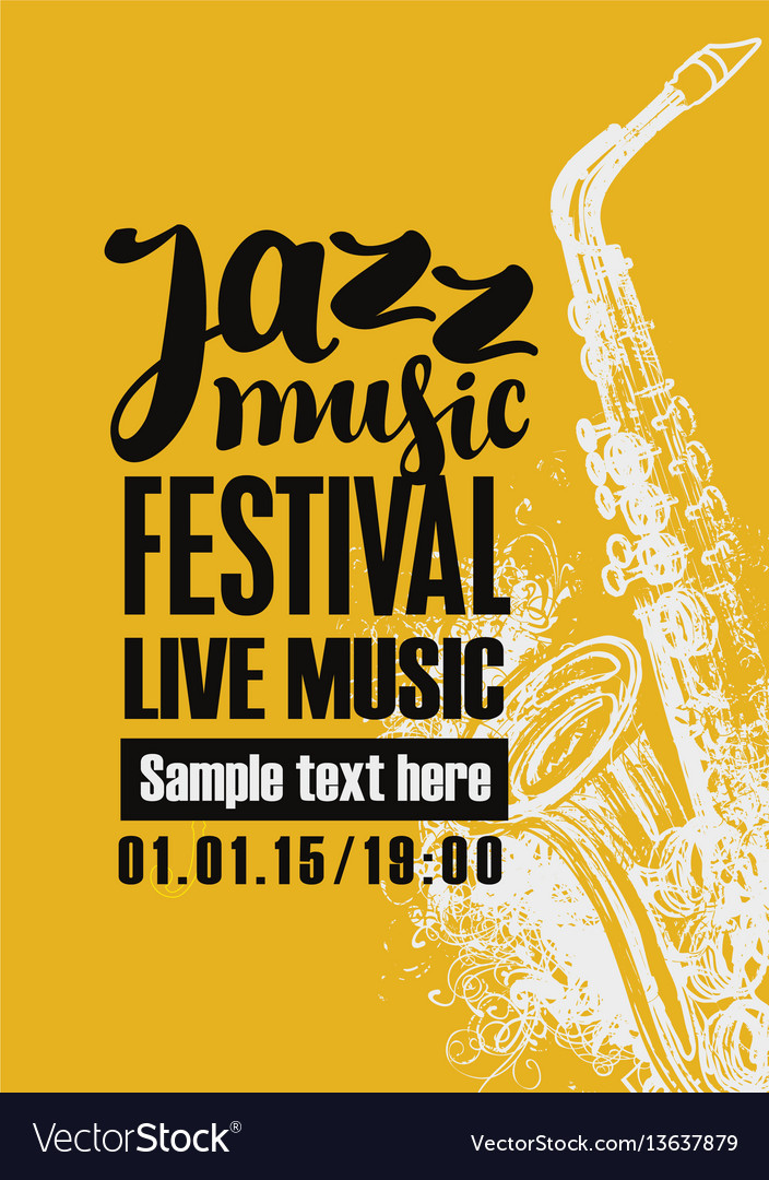Poster for jazz festival with a saxophone vector image