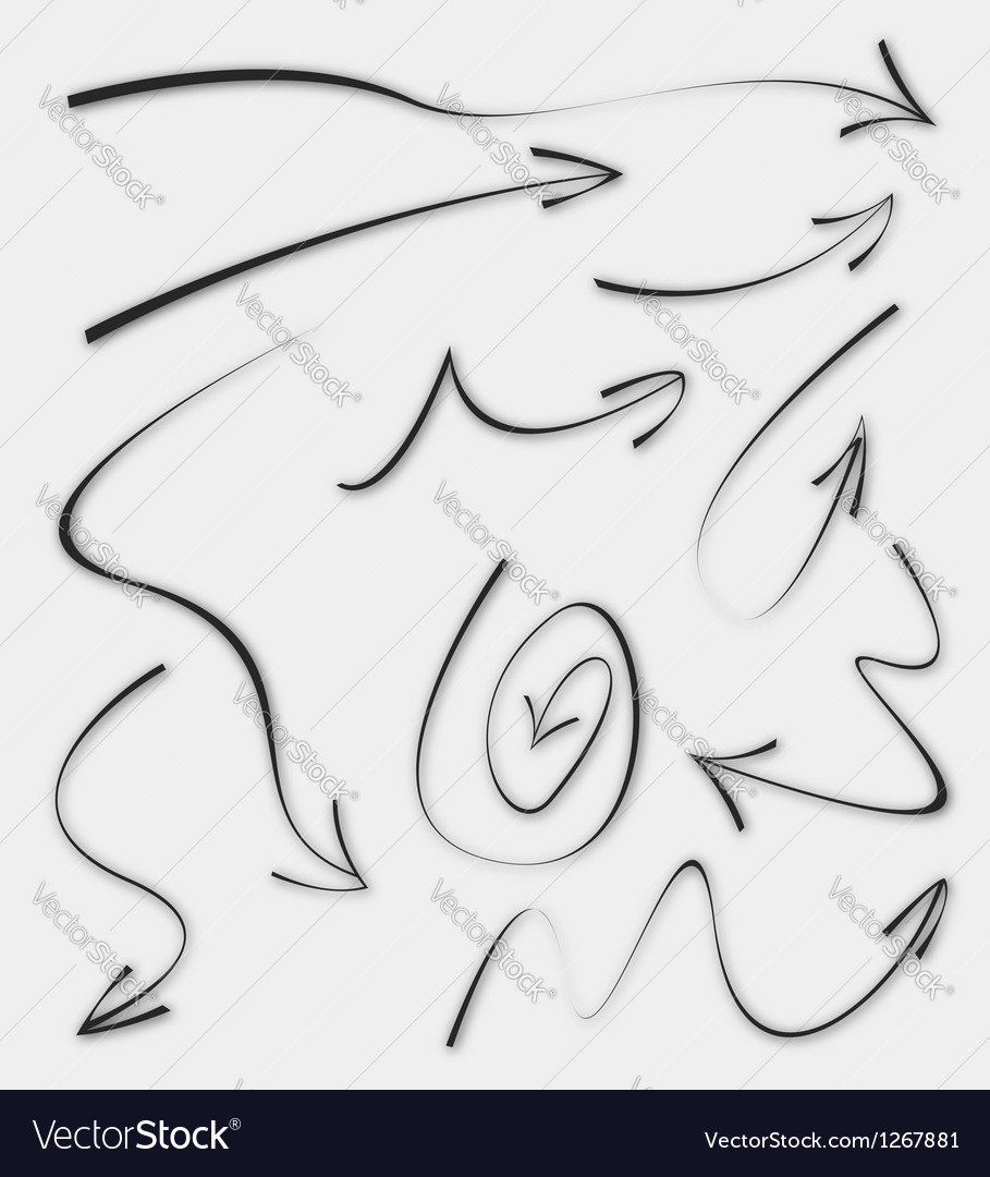Doodle Sketch Arrows vector image