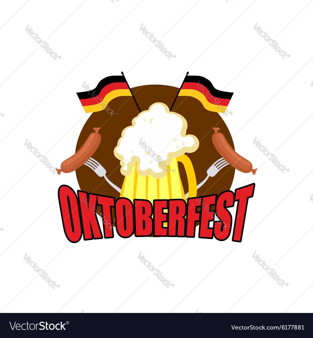 Oktoberfest logo Beer Festival in Germany vector image