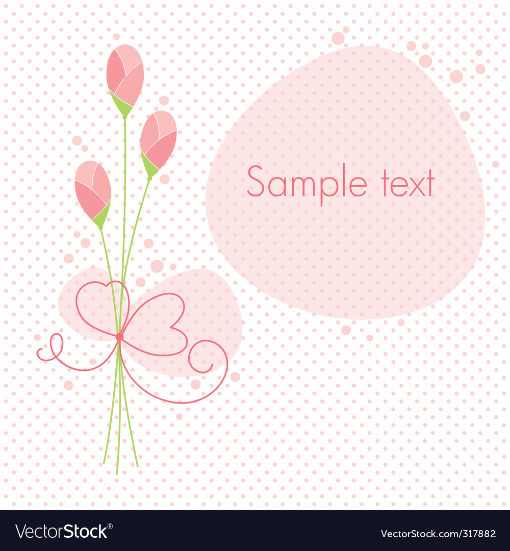 Greeting floral card vector image