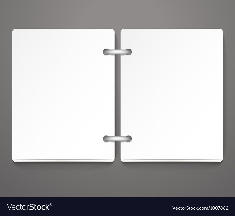 Opened empty paper diary vector image