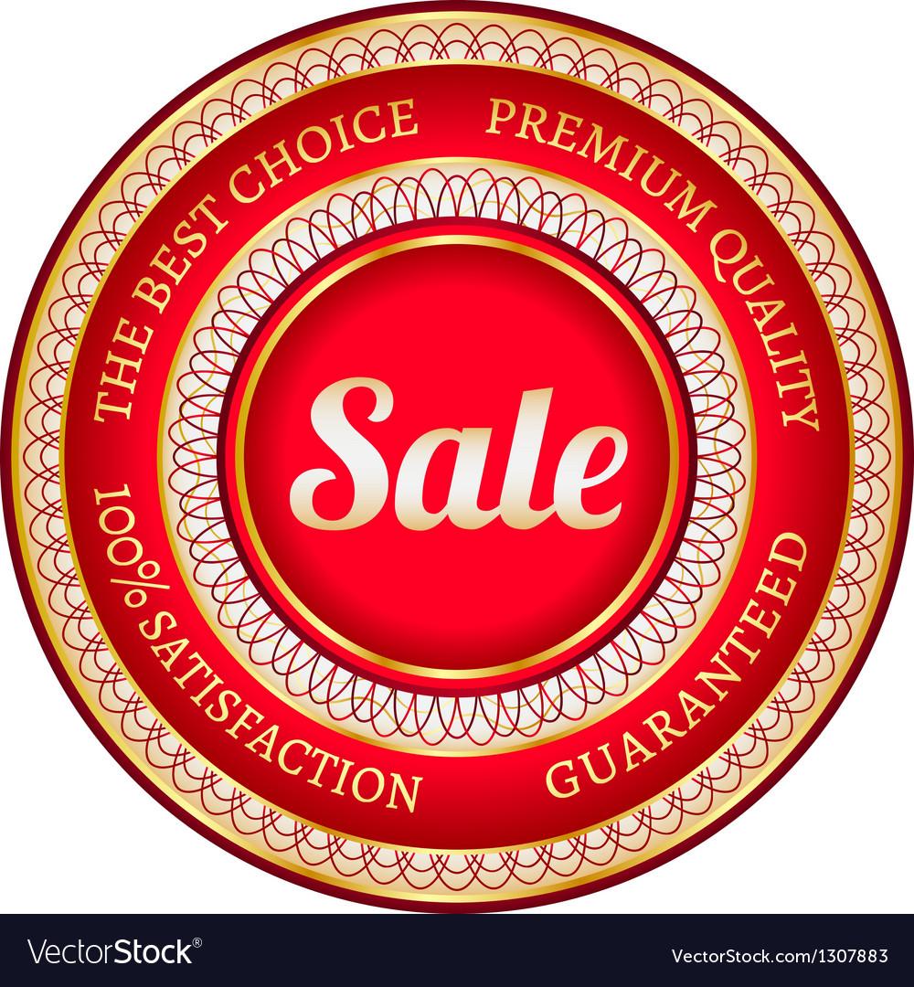 Big red sale label vector image