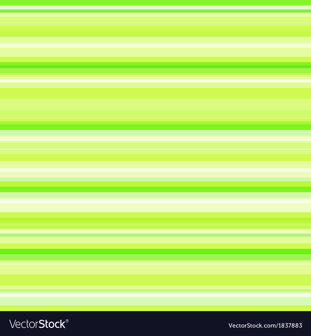 Bright green striped background vector image