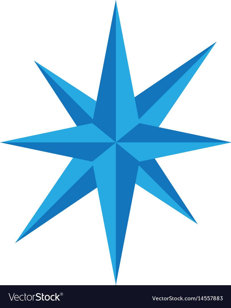 Compass logo template icon des vector image