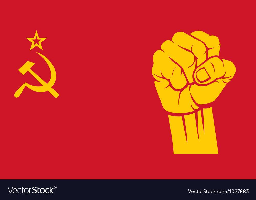 Ussr fist - flag of ussr vector image