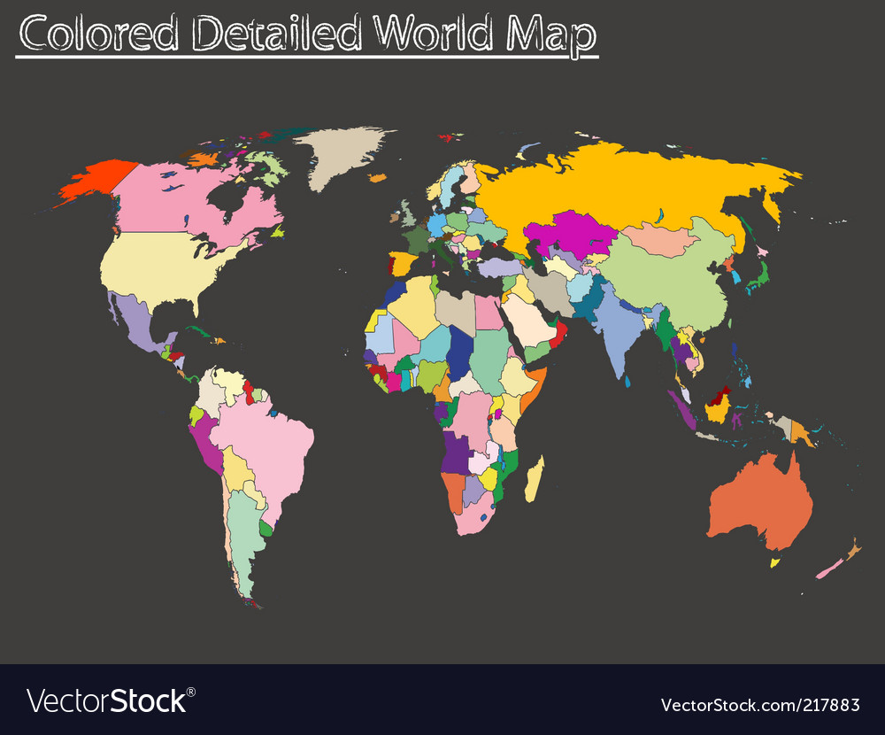 World Map Vector. Artist: robertosch; File type: Vector EPS