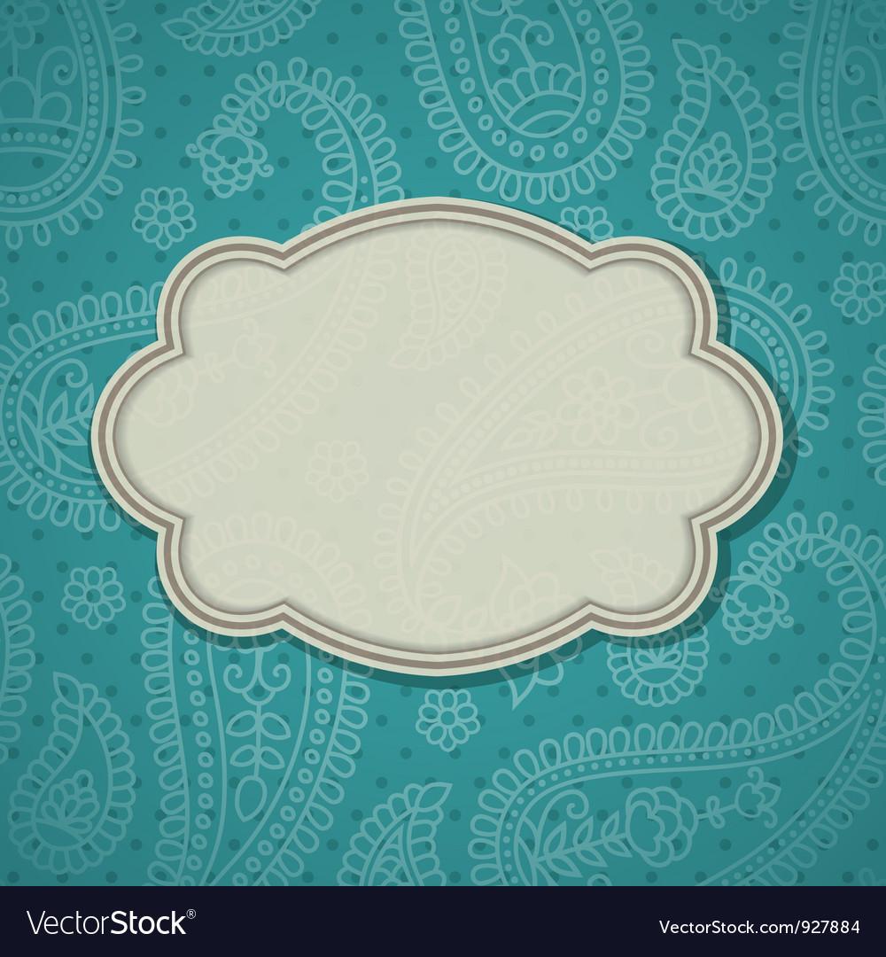 Indian frame Vector Image