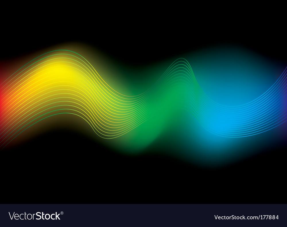 Rainbow stream background vector image