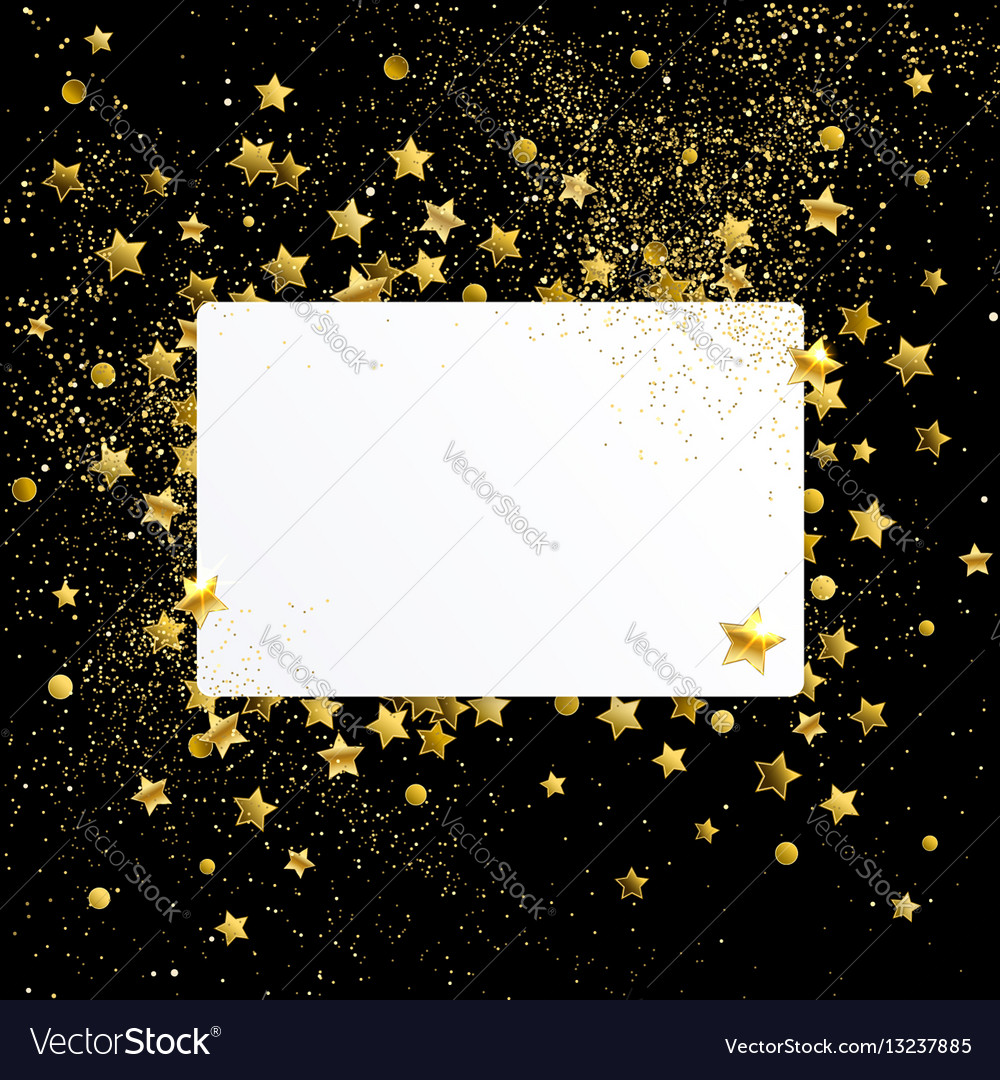 Banner with gold confetti vector image