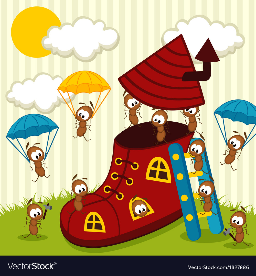 Ants build house vector image