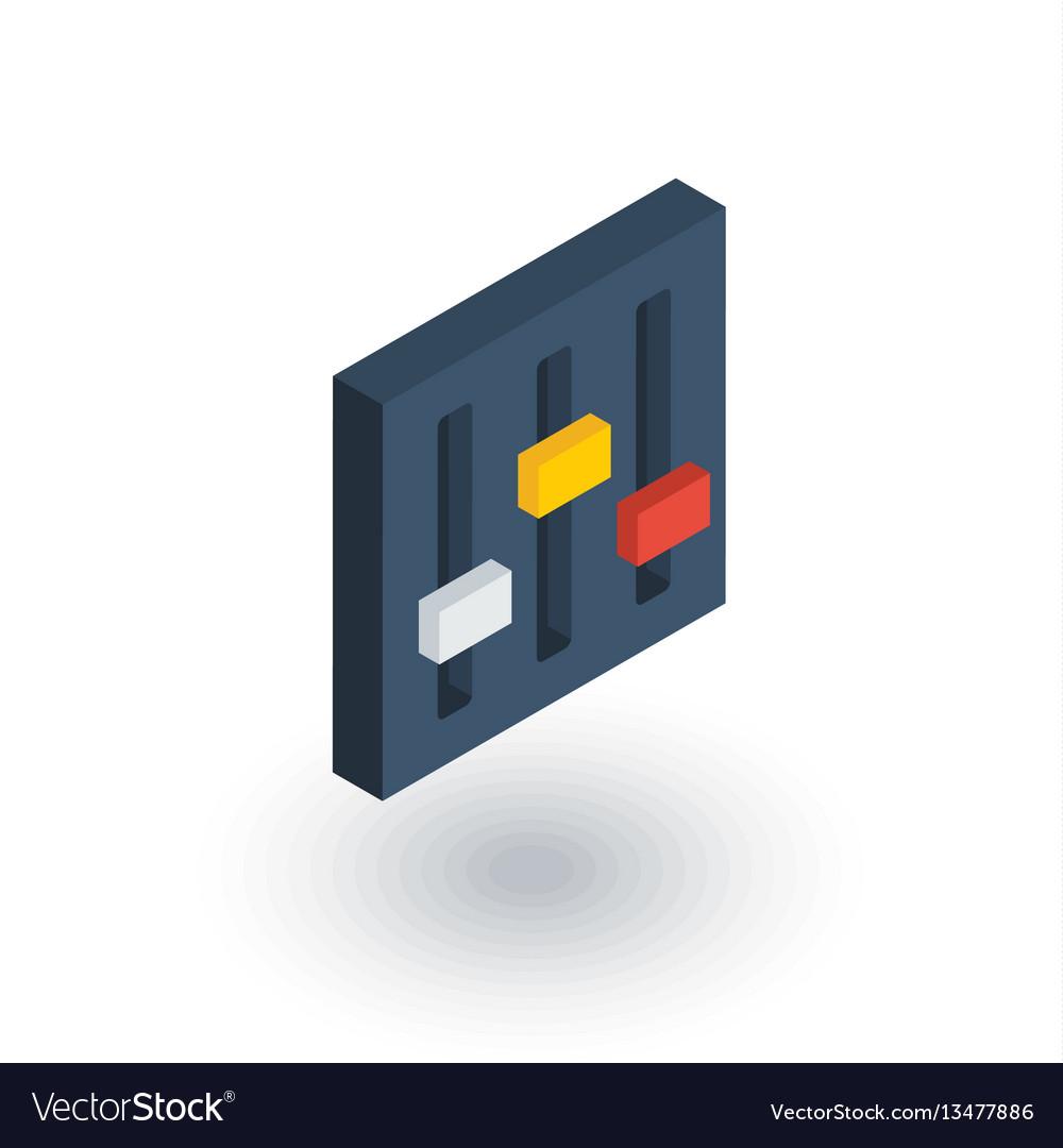 Mixer setup isometric flat icon 3d vector image