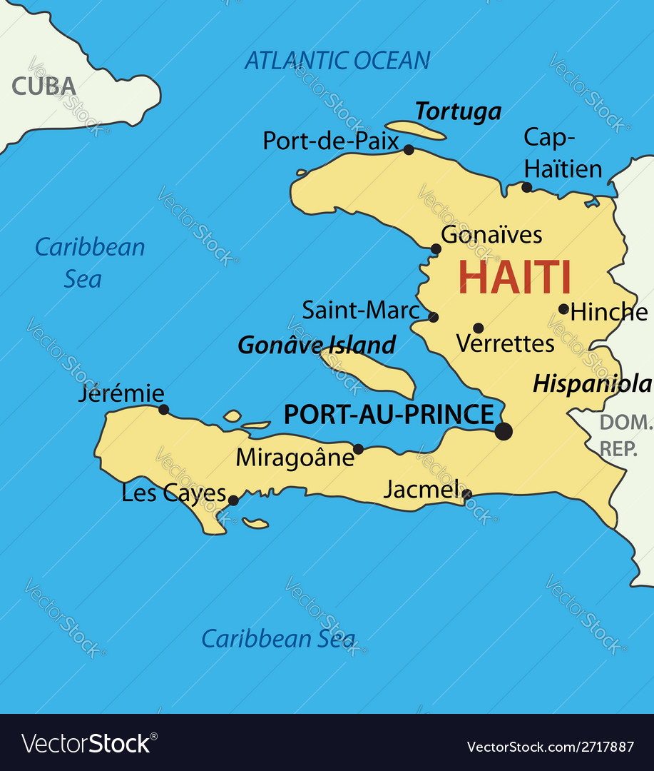 Republic of Haiti map Royalty Free Vector Image