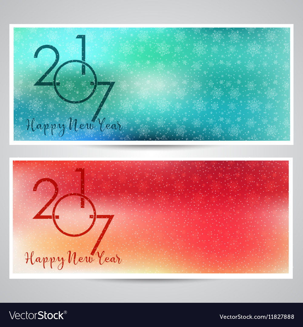 Decorative Happy New Year backgrounds vector image