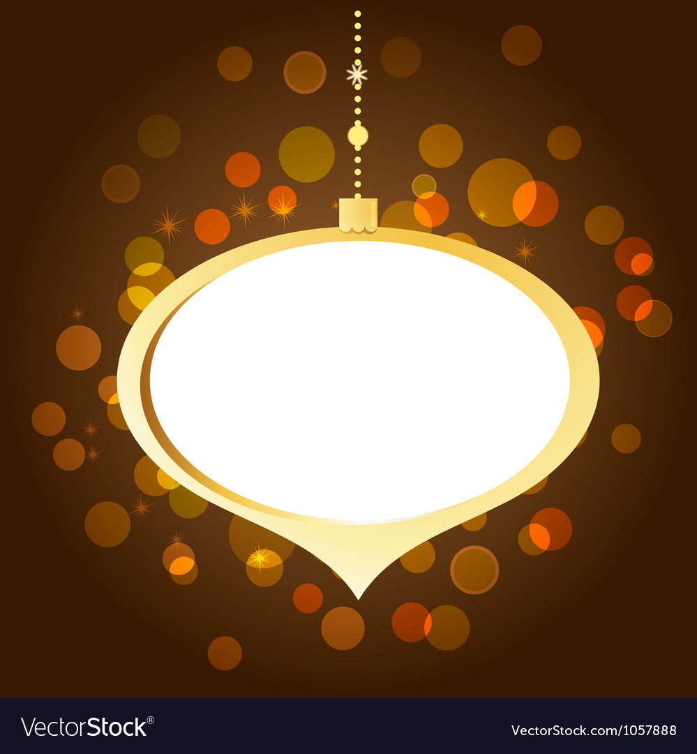 Elegant golden Christmas background with lights vector image