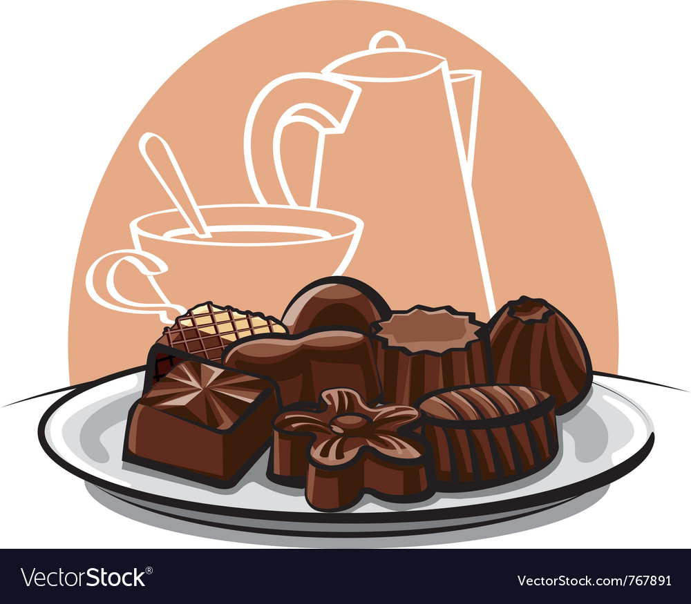 Chocolate sweets vector image