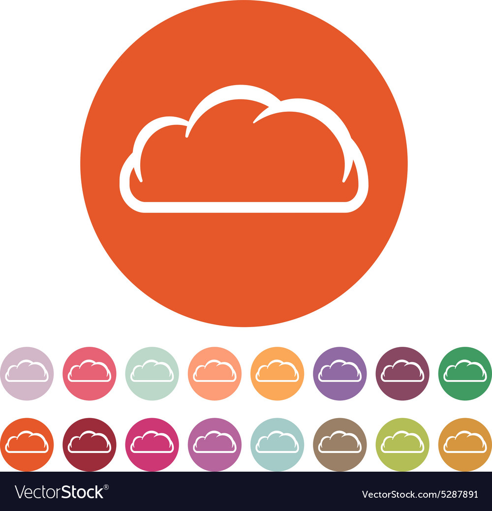 The cloud icon cloud symbol flat royalty free vector image the cloud icon cloud symbol flat vector image biocorpaavc Gallery