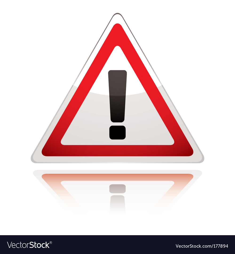 Warning sign icon uk exclamation vector image