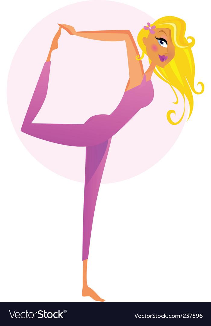 Mikuska Yoga Vector Image
