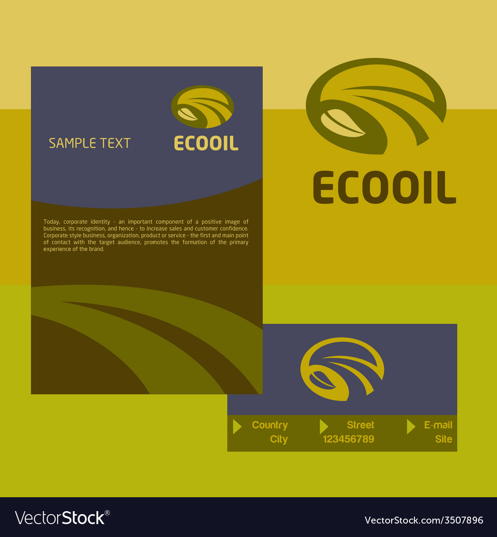 Logo business card and cover for the production vector image